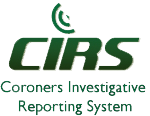 Coroners Investigative Reporting System logo.